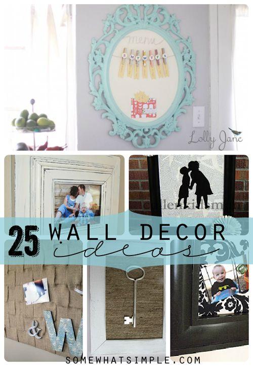 wall decor: Wall Hanging, Wall Decor Ideas, Color, 25 Wall, Menu Boards, Burlap Frames, Houses Decor, Fun Ideas, Wall Ideas