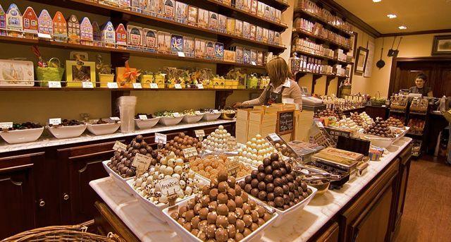 Bariloche chocolate shop.