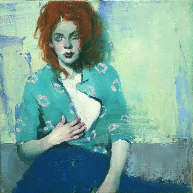 Malcolm T. Liepke, Open Blouse @artsy