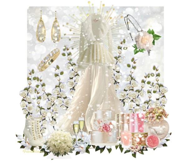 """Winter Bride"" by fiordiluna on Polyvore"