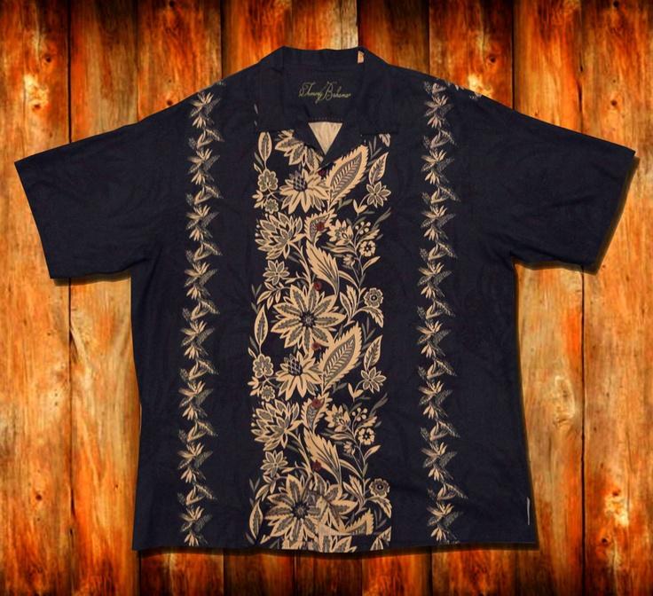 Tommy Bahama Hawaiian Shirt Xl 100 Silk High End Men