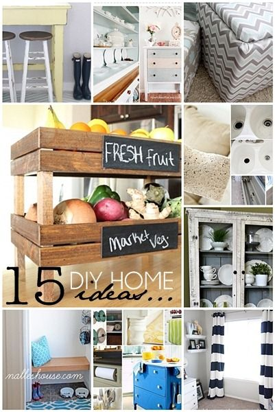 15 DIY Home Improvement Projects... Fantastic easy ideas!