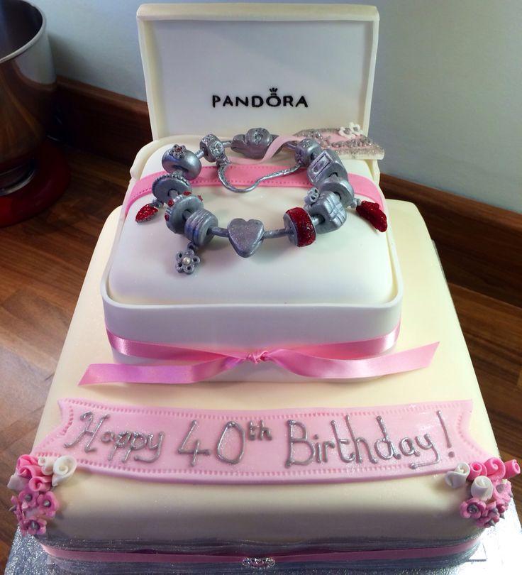 Pandora bracelet 40th birthday cake