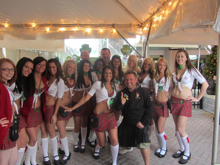Tilted Kilt girls with Mickey from 98 Rock