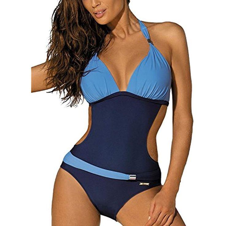 Costumi da Bagno Interi Donna Trikini Costume da Mare Spiaggia Piscina Sexy Bohe…