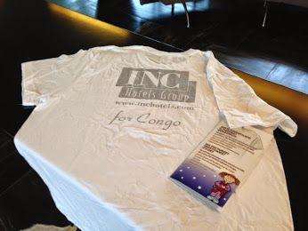 """- """"Hai dimenticato il pigiama...?"""" - """"BENISSIMO! FACCIAMO ANCHE BENEFICENZA!""""  Infatti se hai dimenticato il pigiama, con soli 5 euro, in tutte le strutture Inc Hotels, riceverai questa T-shirt Luvungi e l'intero ricavato sarà devoluto al progetto Centro Infettivi.  Tutte le info su www.inchotels.com"""