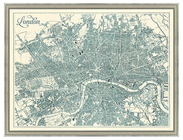One Kings Lane - Map Antiquities - Map of Teal London