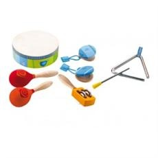 Sevi Percussion Set (Unisex, Age 2+ Years): This fabulous first step into music includes a tambourine, castanets, maracas, a triangle and a cymbal shaker - 8 pieces in total.