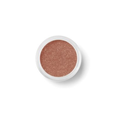 Warm coppery shadows draw attention to blue eyes and make them stand out. (Shimmer Eyecolour in Tan Lines, £14, Bare Minerals)