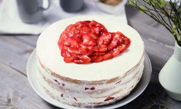 rezept-Naked CakeErdbeer-Sahne-Torte