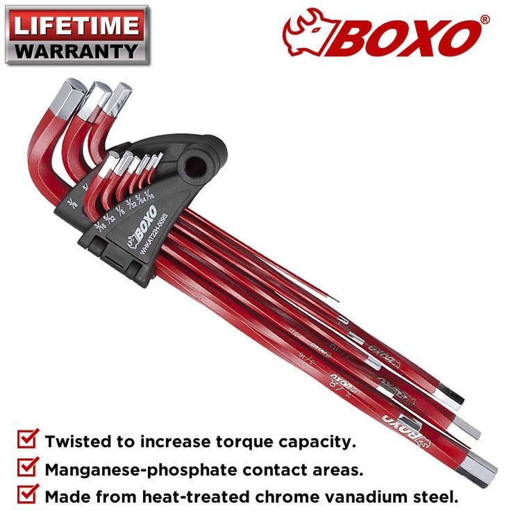 Boxo BOXWHKAT22H009SB 9PCE AF XL High Torque Twist Hex Key Wrench Set