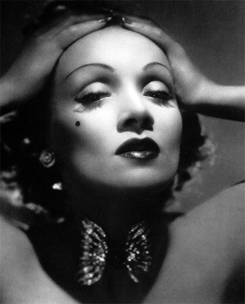 Marlene Dietrich wearing Joseff Hollywood Jewelry