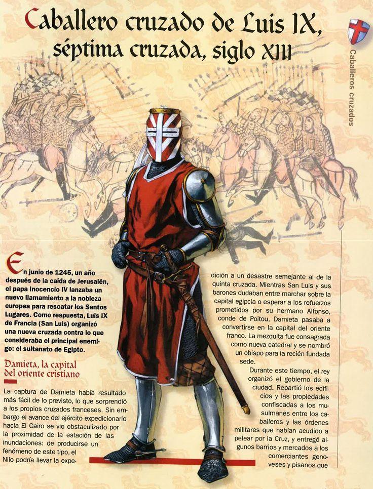 Cavaleiro Cruzado de Luis IX, sétima cruzada século XIII