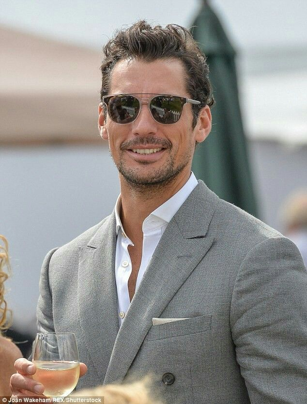 David Gandy attends a function with new girlfriend