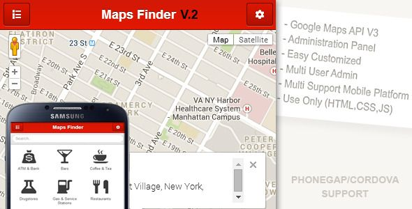 Maps Finder App - CodeCanyon Item for Sale