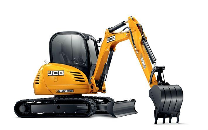 Download imagens Escavadeira, JCB 8050 RTS, Mini escavadeira, máquinas especiais, máquinas de construção