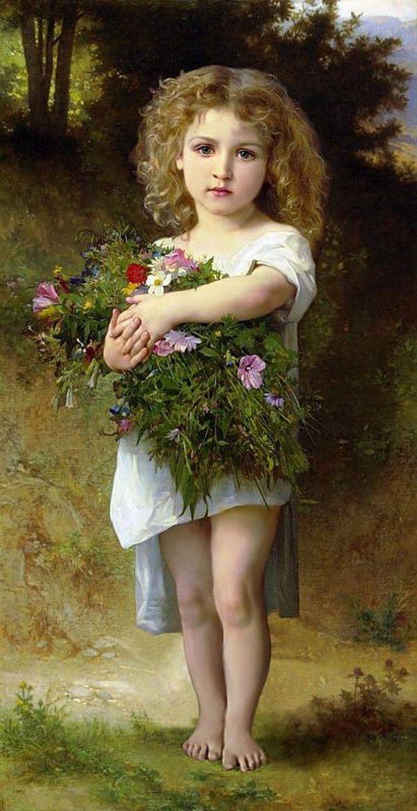 Рукоделие ремесел и подарков домашнего декора французский DMC качество счетный крест Kit картина маслом 14 СТ ребенок с цветами