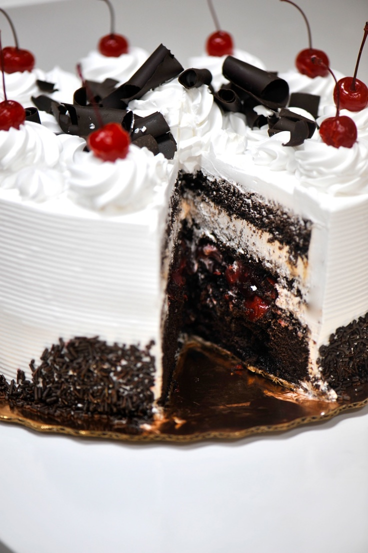 cherry chocolate cream cake...