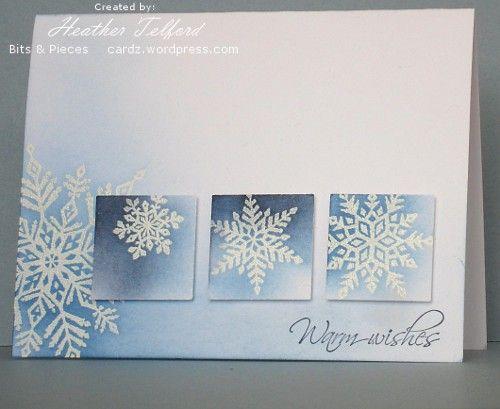 Sinivalkoiset lumihiutaleet