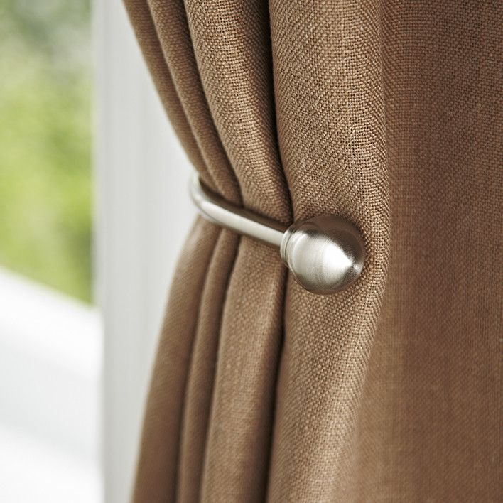 Classic Ball Curtain Holdback in Brushed Bronze by Birch Lane