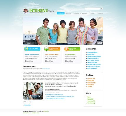 Intensive Course WordPress Themes by Di