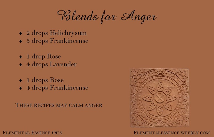 Blends for reducing anger.