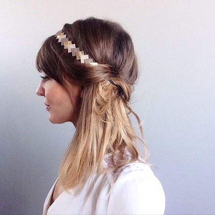 Voici une nouveauté de la boutique Lucky Rosetta -  Graphique & coloré ce head-band en Cuir est idéal pour accessoiriser vos tenues   Ces head-band sont en cuir , parfois de - 20270736