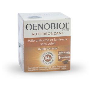 Illustration Autobronzant OENOBIOL® boite de 30 capsules