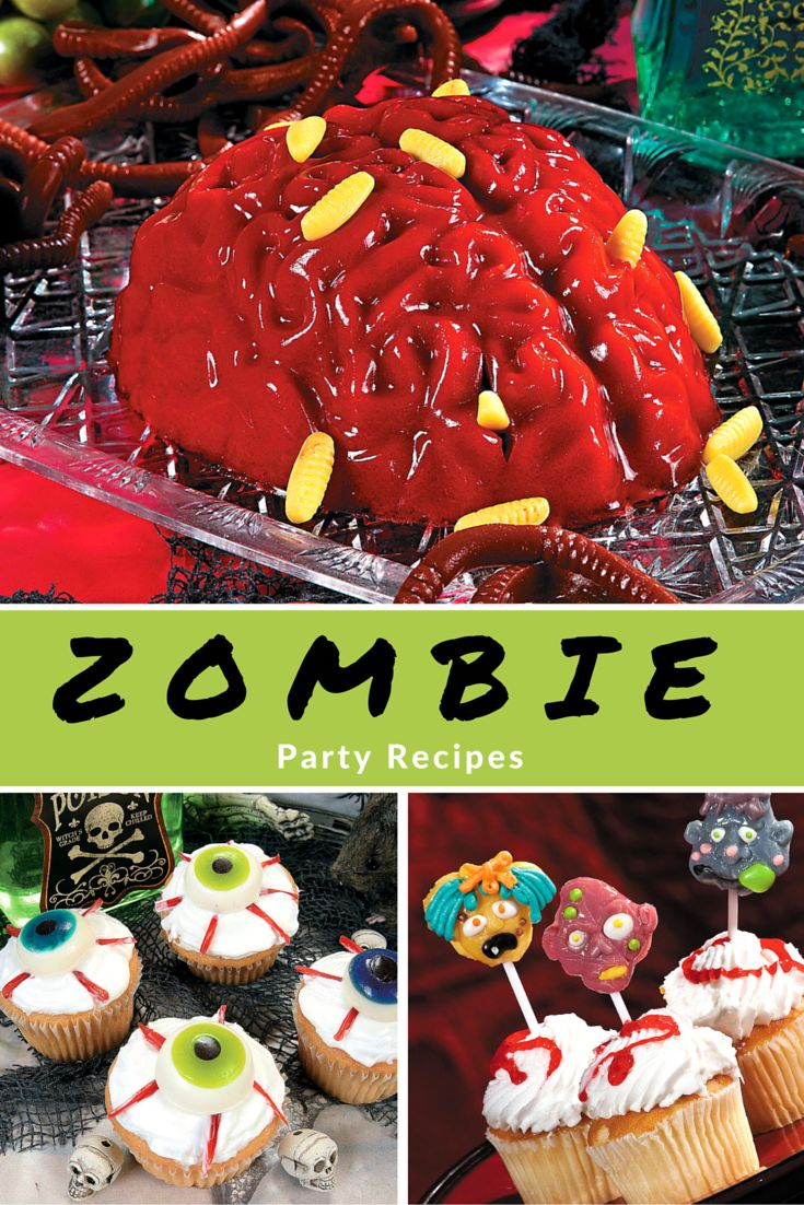Finally, Zombie Party Recipes That Let You Rest In Peace! Zombie Cupcake  Toppers,