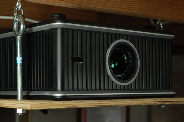 DIY: A quick and dirty $20 projector ceiling mount  |  TechCrunch