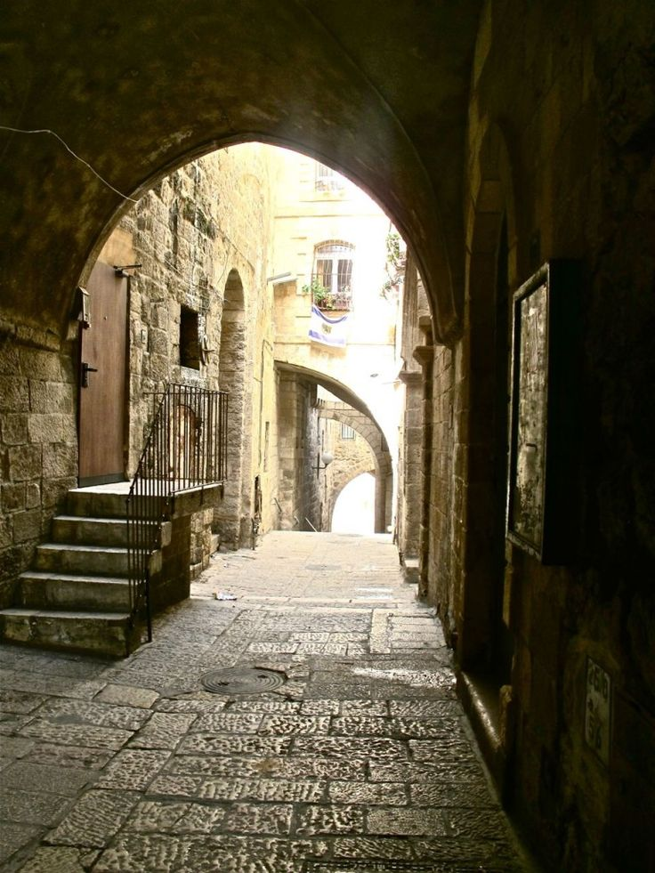 Jerusalem's Old City, the roads that we walked down to get to our hostel.
