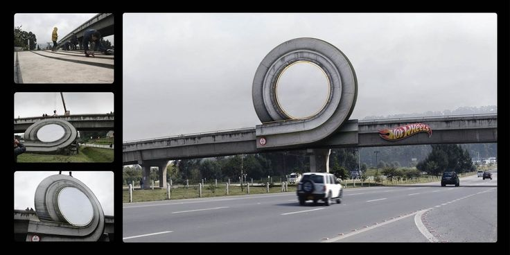 Hot Wheels installation, via Bogota, Colombia - Genius by Ogilvy & Mather