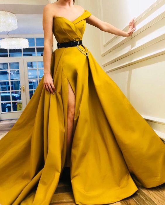 Fancy Clothes Fresh Outfit Ideas Vestidos Amarillos De Noche Vestidos Amarillos Largos Vestidos De Noche Largos