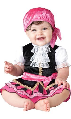 Buy Halloween Costumes Now and Save! This Adorable Baby Girl Pirate Costume is one of Millions of Costumes at Costume Craze that are 50-90% OFF!   #babycostume