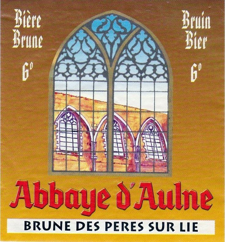 Abbaye d'Aulne Brune des Pères Sur Lie, Abbey Dubbel 6,0% ABV (Brasserie Val De Sambre, Bélgica) #label