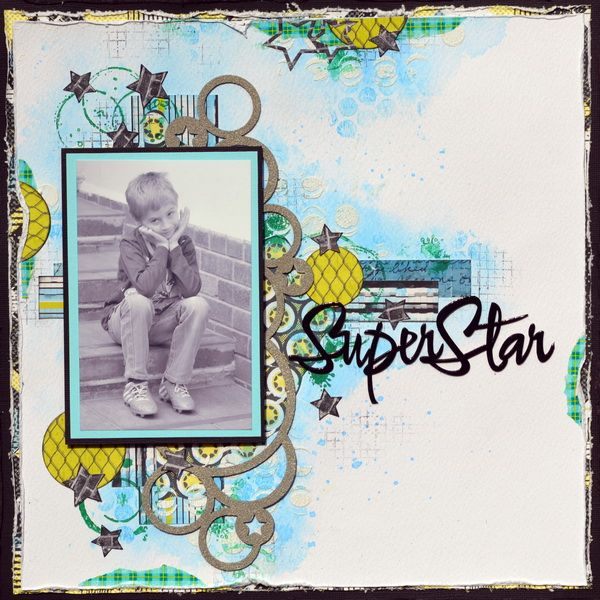 A SuperStar - boys page - using the funky Teens Collection from FabScraps! ;-)