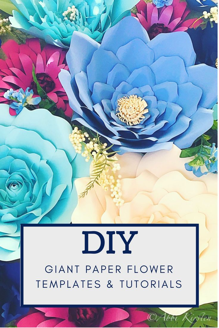Easy and beautiful giant paper flower templates and tutorials. DIY flower wall. Printable flower templates.