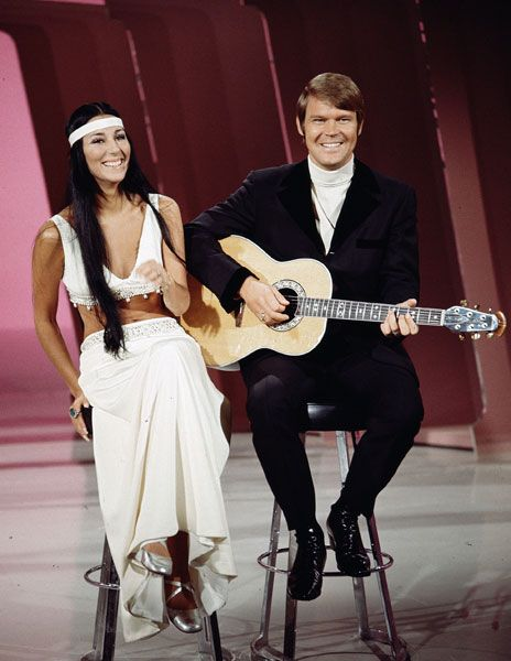 Glen Campbell Family | Cher performs with Glen Campbell on The Glen Campbell Goodtime Hour in ...