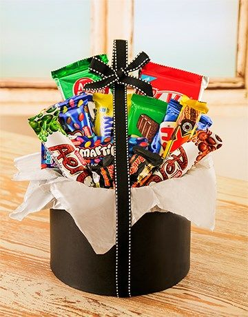 Buy Large Hatbox Filled with Nestle Chocolates Online - NetGifts