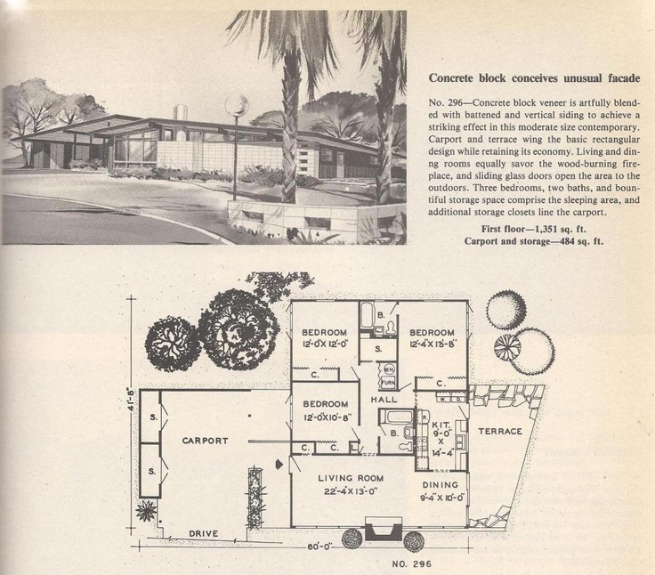 1950s house plan