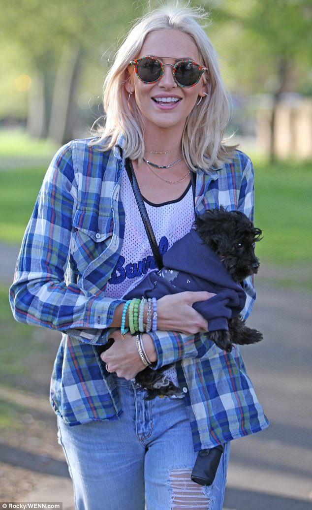 Birthday girl: Stephanie Pratt, 31, couldn't have looked happier as she celebrated her bir...