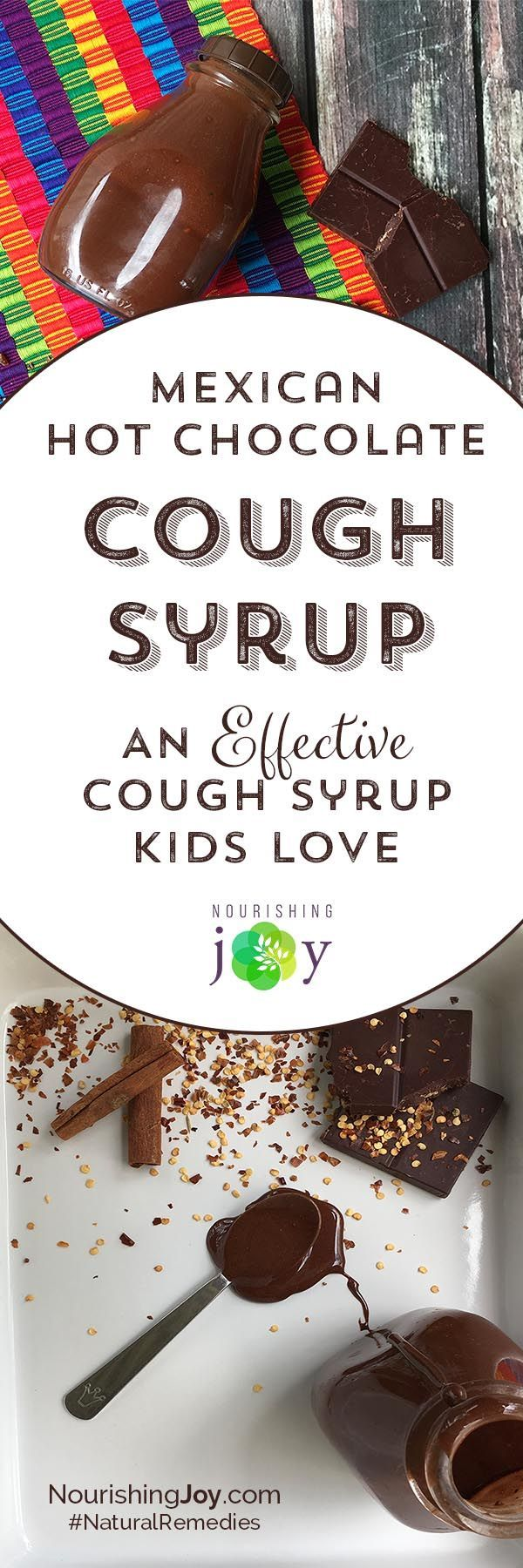 Did you know that recent studies have shown that theobromine, the main chemical constituent in chocolate, has been proven to be more effective for cough relief than codeine? And not only that, but this cough syrup is SERIOUSLY TASTY - kids and adults alike will absolutely love the flavor AND find relief.