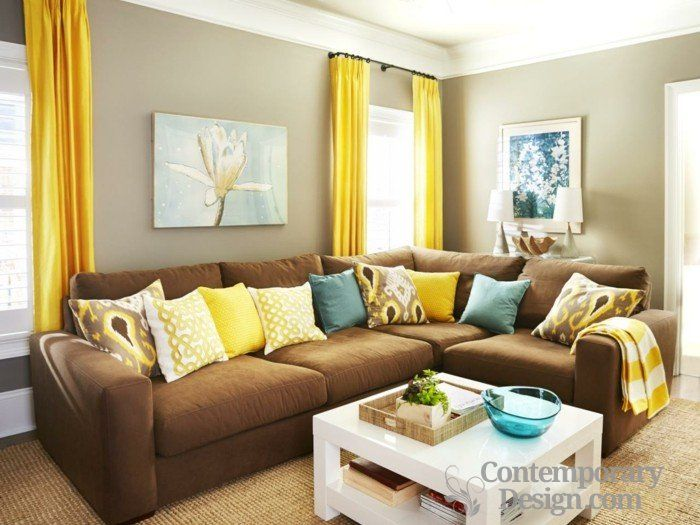 Living Room Decorating Ideas Green And Brown best 25+ chocolate brown couch ideas that you will like on