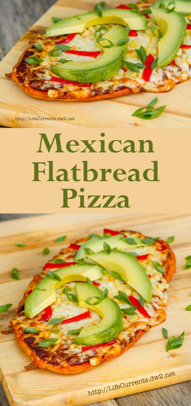Mexican Flatbread Pizza. Pin this delicious and easy dinner now to make soon!