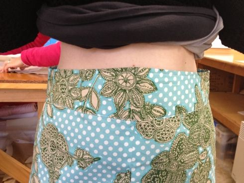 "How to adjust the waistband of Colette's ""Ginger"" skirt pattern."