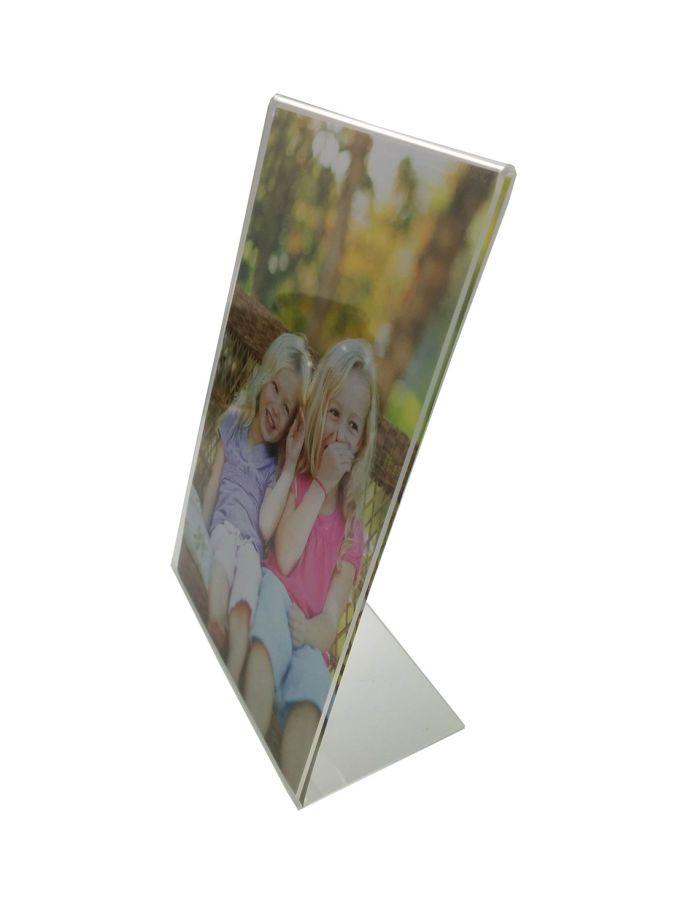 Portafoto in plexi rettangolare verticale per bomboniera fai da te (JT)