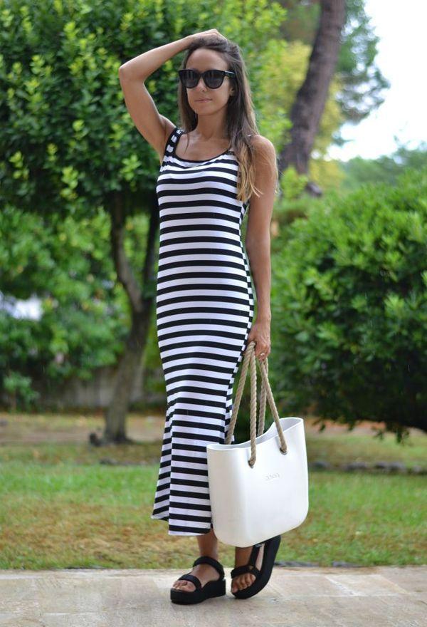 Vestidos De Moda A Rayas Moda En Vestidos Casuales Vestidos Lindos Pinterest Casual Wear