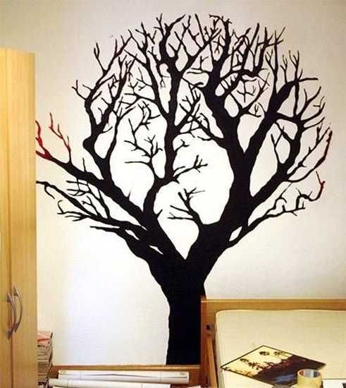 Best 25 tree wall painting ideas on pinterest painting for Black tree wall mural