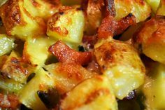 Aardappeltjes met kaas en spek uit de oven
