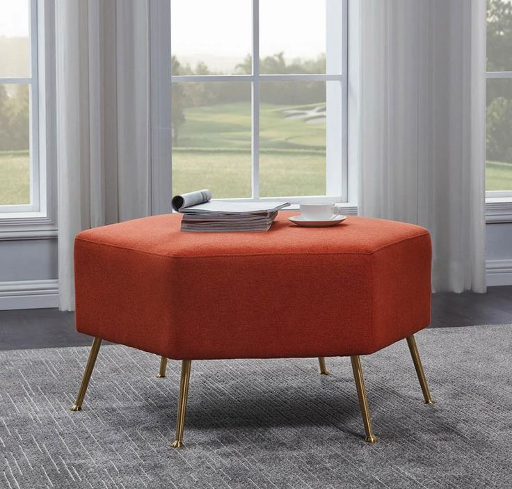 915429 Copper grove donny osmond orange woven fabric gold
